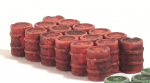 HN645  - Harburn Red Oil/Chemical Drums, Grouped, N Scale